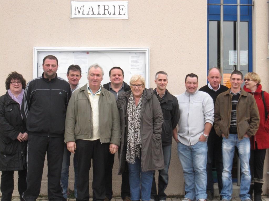 Le conseil municipal de La Chaze de Peyre, élu le 23 mars 2014